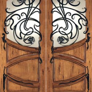 Mahogany Exterior Door