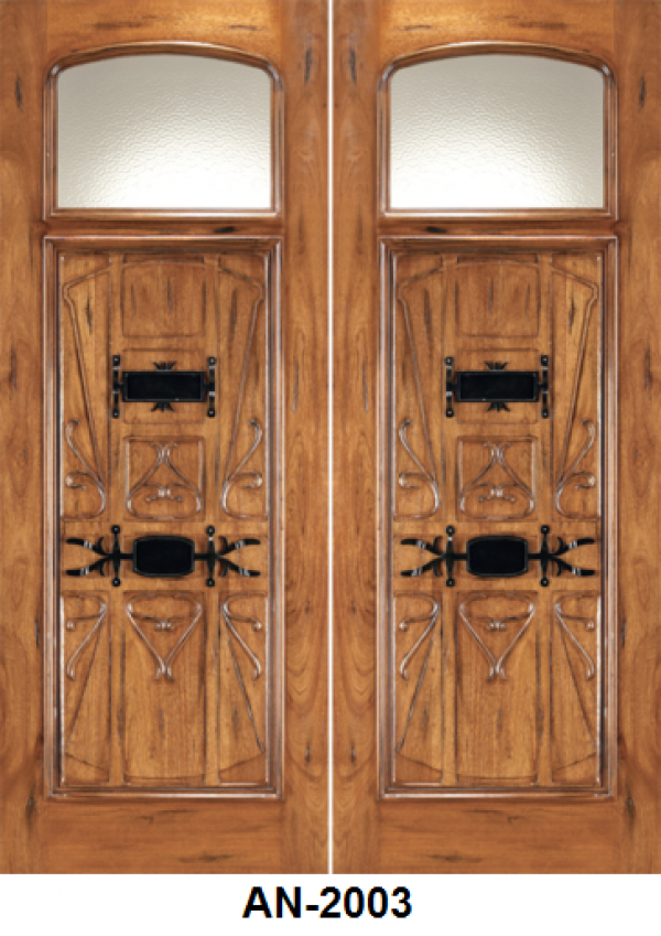 Art Nouveau Mahogany Front Entry Doors An 2003 Wood Doors Toronto