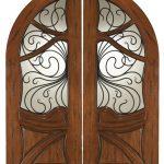 Mahogany Wood Entry Door