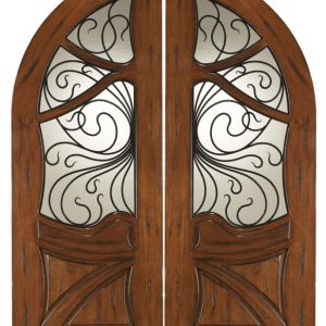 Mahogany Wood Entry Door