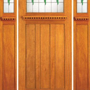 Mahogany Single Entrance Front Door