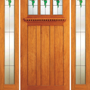 Mahogany Exterior Arts Crafts Entrance Door