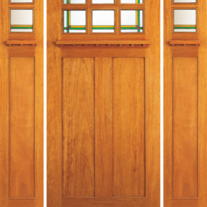 Solid Wood Mahogany Dual Beveled Glass