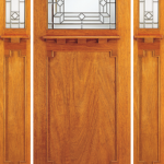 Solid Wood Mahogany Single Exterior Door