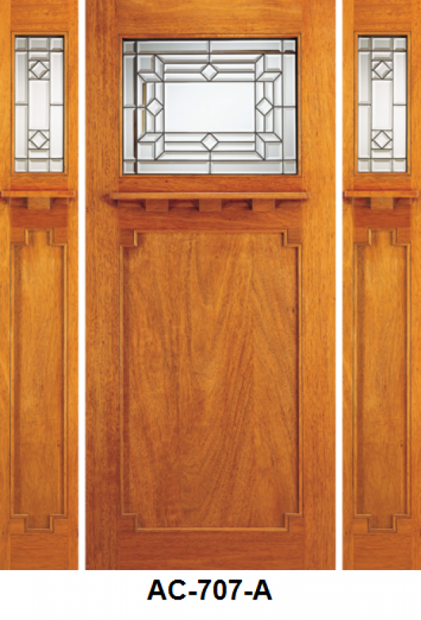 Solid Wood Mahogany Single Exterior Door