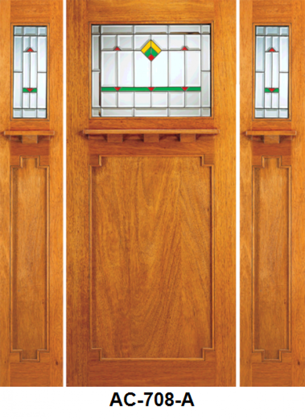 Solid Wood Mahogany Entrance Door Side Light