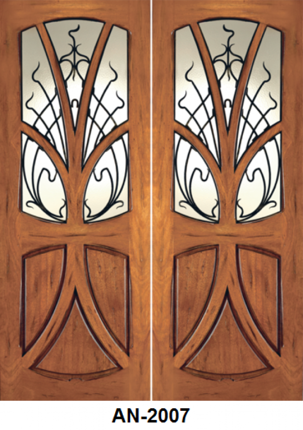Double Front Entry Mahogany Door