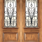 Exterior Solid Mahogany Double Door
