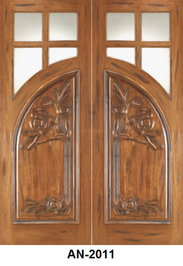 Mahogany Wood Entrance door