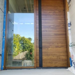 Modern Exterior Solid Wood Panel Door