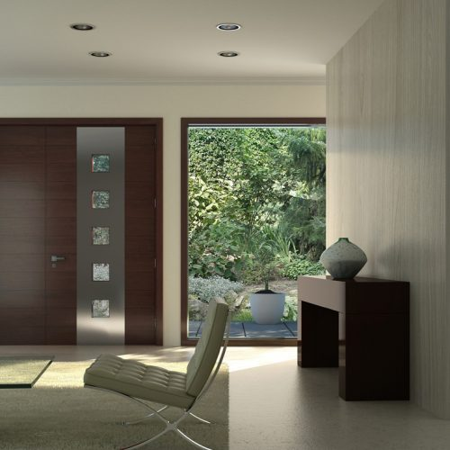 single-fibre-glass-door-stainless-steele-strip-clear-glass-windows